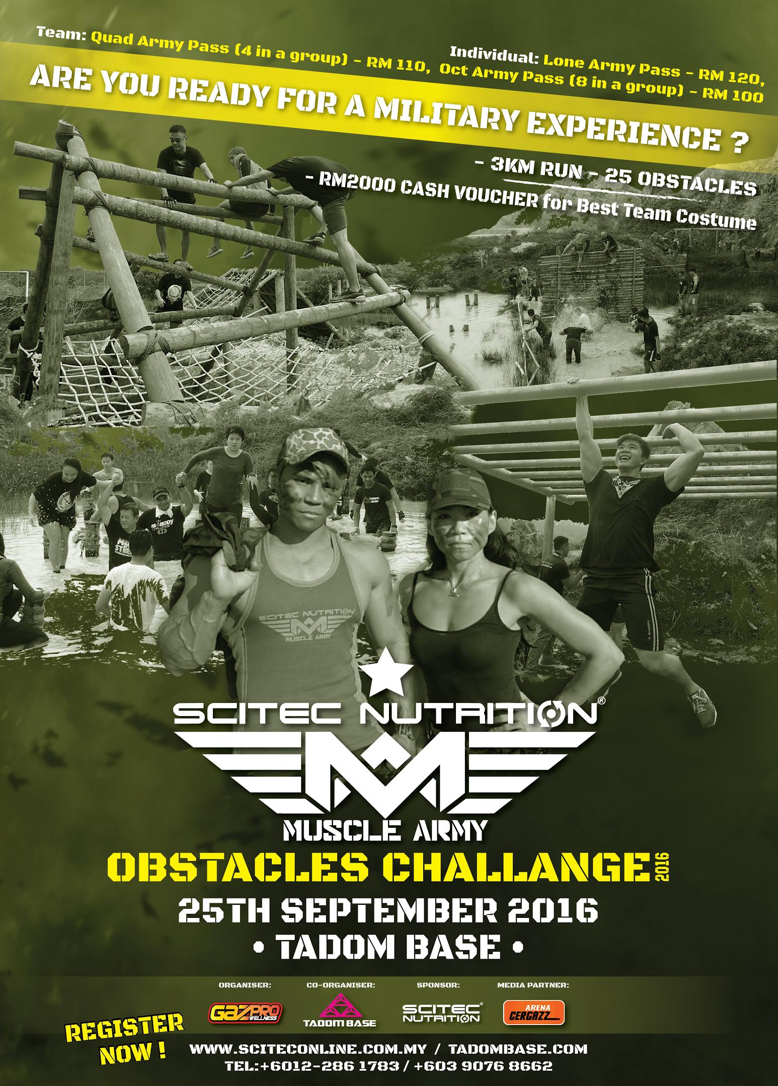 Scitec Nutrition Mustle Army Obstacles Challenge