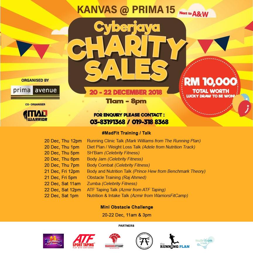 Prima Avenue's Cyberjaya Charity Sales - #MadFit Training / Talk / Mini Obs Challenge